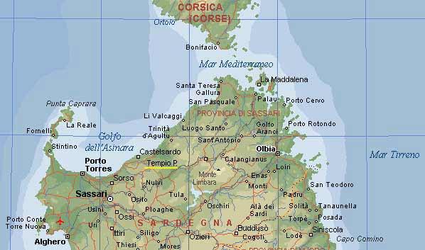 Stintino Cartina Geografica.Tempio Ss